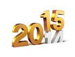 canvas print picture - 2015 new year sign