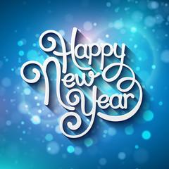 Inscription Happy New Year. Vector illustration