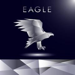 Eagle vector cubits art