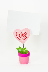 Heart message card holder