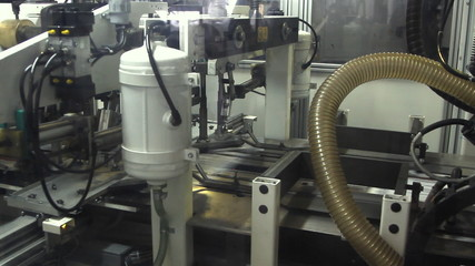 print press typography machine in work