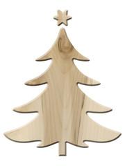 Dekorativer Weihnachtsbaum aus Ahornholz, freigestellt