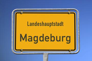 Ortsschild Magdeburg