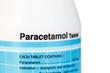 Close up medicine bottle isolated on white background