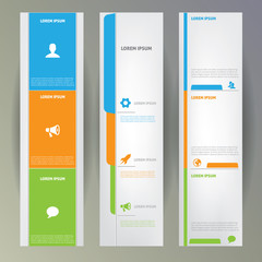 Set of web banners.