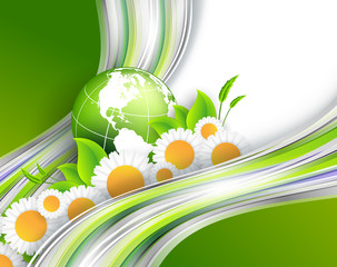 abstract environmental vector background