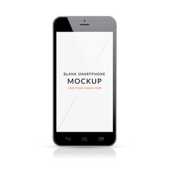 Black modern smartphone mockup vector illustration