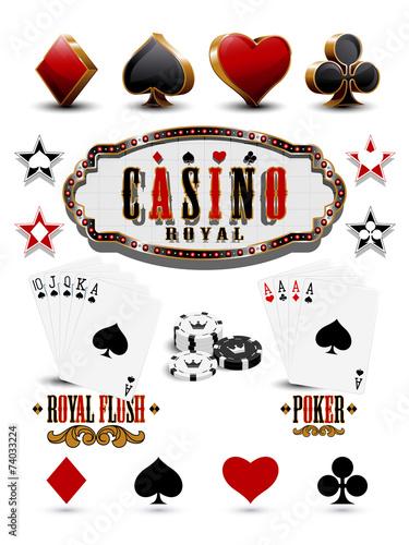Casino elements - 74033224