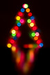 Blurred abstract background Christmas lights