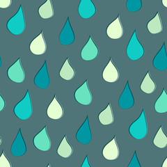 Seamless Raindrops Background