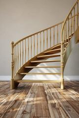 Treppe aus Holz im Raum