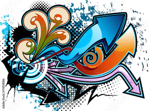 Fotobehang Graffiti Graffiti background