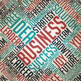 Business - Retro Word Cloud Concept.