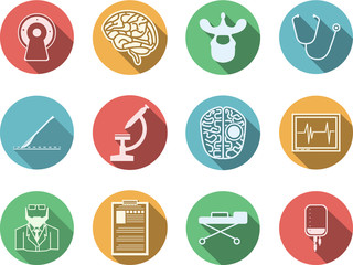 Colored icons for neurosurgery