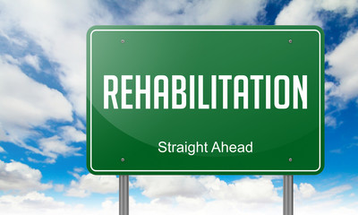 Rehabilitation on Highway Signpost.