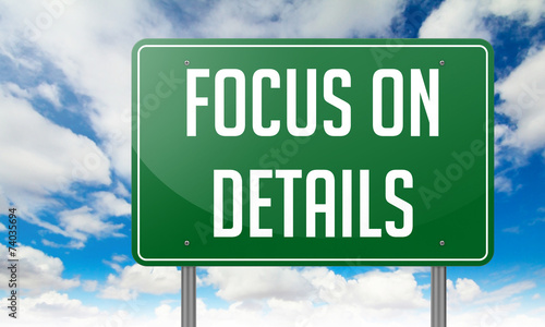 Focus on Details - Highway Signpost. - 74035694