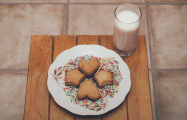 homemade cookies and milk