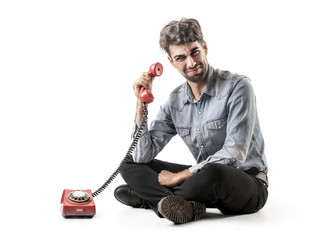 man with the phone