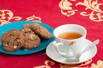 cup of tea and chocolate biscuits