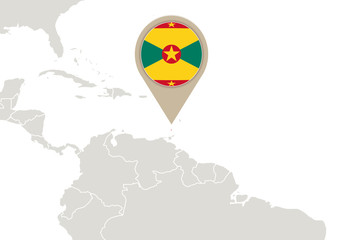 Grenada on World map