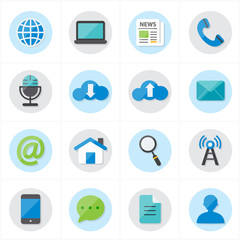Flat Icons For Web Icons and Internet Icons Vector Illustration
