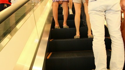 Thailand, Bangkok, 1 August 2014. Escalators of the Siam Paragon