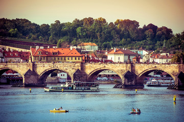 Charles Bridge and other sights in Prague