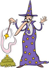 wizard fantasy cartoon illustration