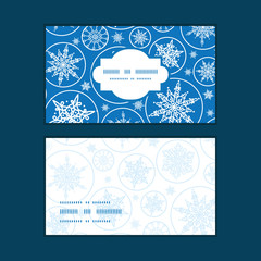 Vector falling snowflakes horizontal frame pattern business