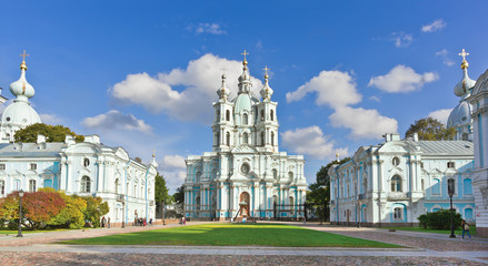 Smolny Cathedral in St.-Petersburg, Russia