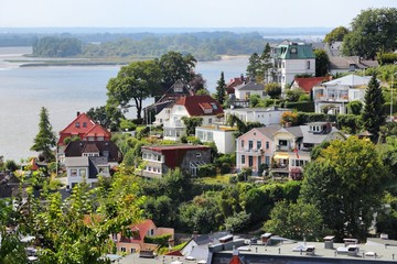 Blankenese district in Hamburg