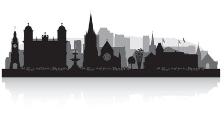 Christchurch New Zealand city skyline silhouette