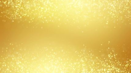 gold glitter dust two sides seamless loop background