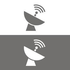 Icono parabólica BN