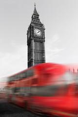 London Big Ben mit Bus