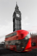 London Big Ben mit Bus