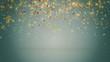 glowing confetti fall seamless loop
