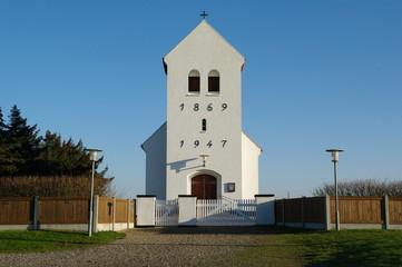 Kirche in Kirkehavn in dänemarks Jütland 2