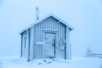 Frozen hut.