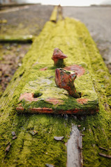 rusted bolt for rails