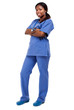 Full length black nurse