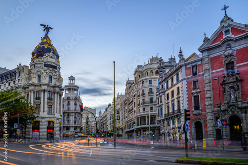 canvas print picture Madrid