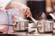 Leinwandbild Motiv chef at work