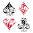 Black and Red Playing Card Ornament