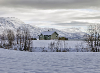 Winter in northern Norway above the Arctic Circle.