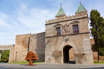 Puerta de Bisagra of Toledo city, Spain