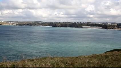 Newquay Bay Cornwall England UK PAN