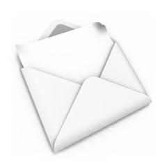 Brief weiss gerade