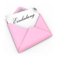 Einladung rosa