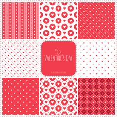 valentine's day textures set